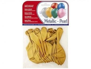 Globos metalizados bolsa de 15 unidades VARIOS COLORES
