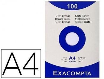 Cartulina exacompta din a4 blanca 205 grs paquete de 100 unidades