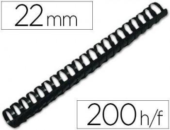 Canutillo q-connect redondo 22 mm plastico blanco capacidad 200 hojas caja de 50 unidades