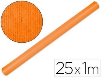 Papel kraft liderpapel naranja fuerte rollo 25x1 mt