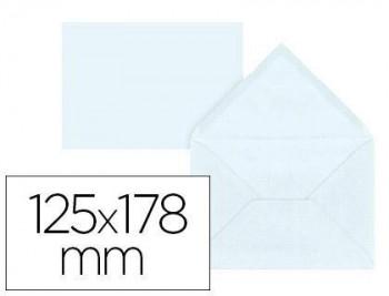 Sobre liderpapel b6 blanco 125x178 mm 80gr pack de 15 unidades