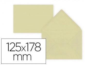 Sobre liderpapel b6 crema 125x178 mm 80gr pack de 15 unidades