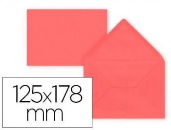 Sobre liderpapel b6 rojo 125x178 mm 80gr pack de 15 unidades