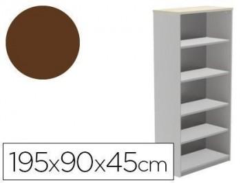 Armario rocada con cuatro estantes serie store 195x90x45 cm acabado VARIOS COLORES