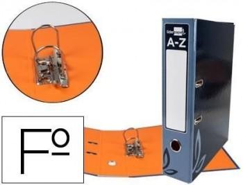 Archivador de palanca liderpapel folio forrado con rado lomo 52mm negro compresor metalico