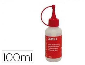 Cola de silicona apli liquida bote 100ml