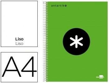 Cuaderno espiral liderpapel a4 micro antartik tapa forrada 120h 100 gr liso con bandas 4 taladros co