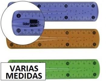 Regla liderpapel plastico flexible colores surtidos VARIAS MEDIDAS