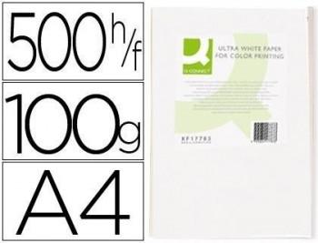 Papel fotocopiadora q-connect ultra white A4