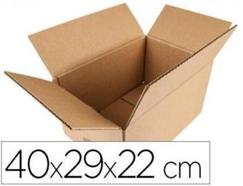 Caja para embalar q-connect americana medidas 400x290x220 mm espesor carton 5 mm