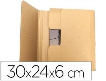Caja para embalar q-connect libro medidas 300x240x60 mm espesor carton 3 mm