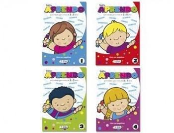 Cuaderno para colorear y actividades solito aprendo para niños de 3a 5 años 32 paginas 170x240 mm