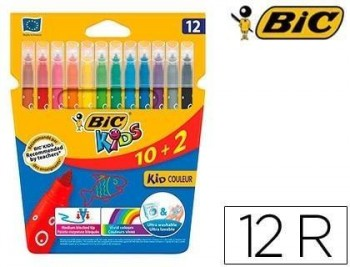 Rotulador bic kids couleur estuche de colores surtidos tinta base de agua lavable