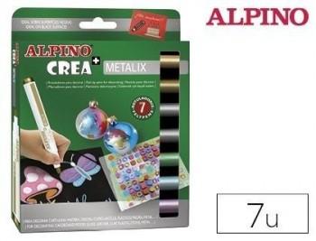Rotulador alpino crea metalix caja de 7 colores