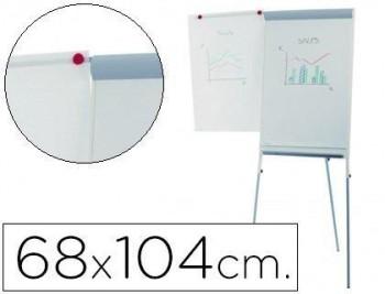 Pizarra blanca rocada con tripode para conferencias magnetica lacada brazo extensible 68x104 cm altu