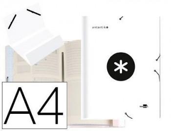 Carpeta liderpapel antartik clasificadora a4 12 departamentos gomas carton forrado color blanco